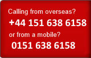 Calling from overseas please use +441516386158 or from a mobile use 0151 638 6158